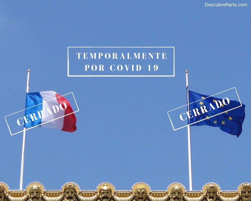 Banderas de Francia y de la Union Europea